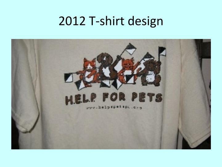 2012 T-shirt design