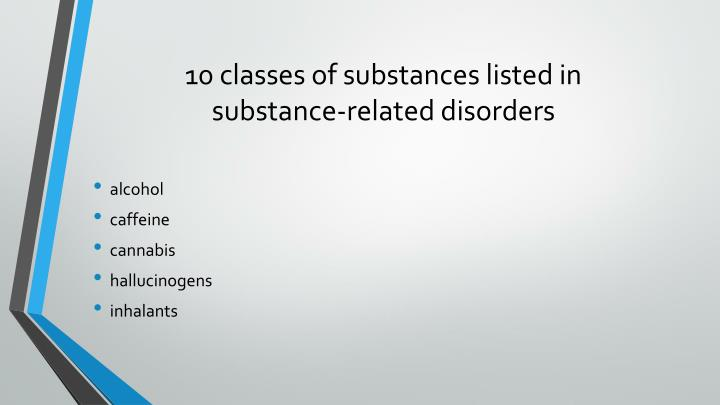 10 classes of substances listed in