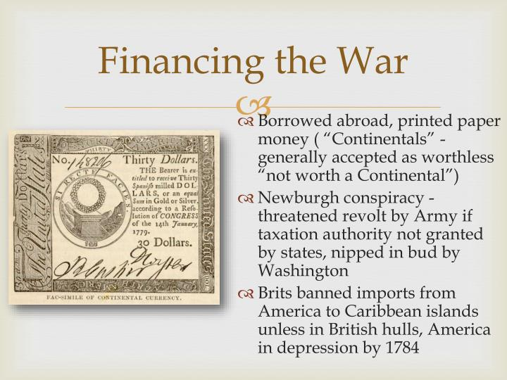 Financing the War