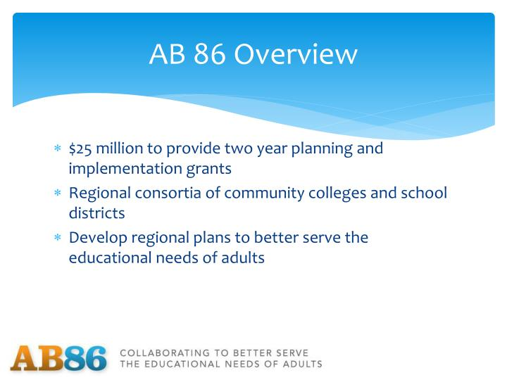 AB 86 Overview
