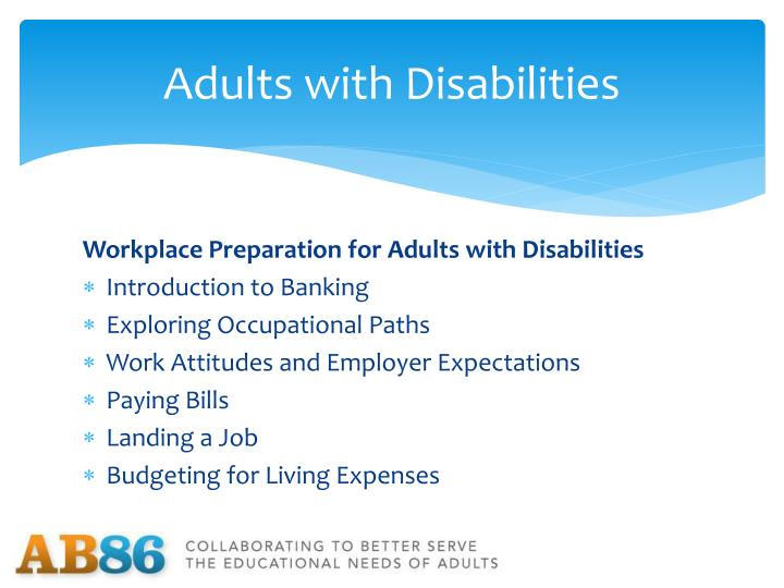 Adults with Disabilities