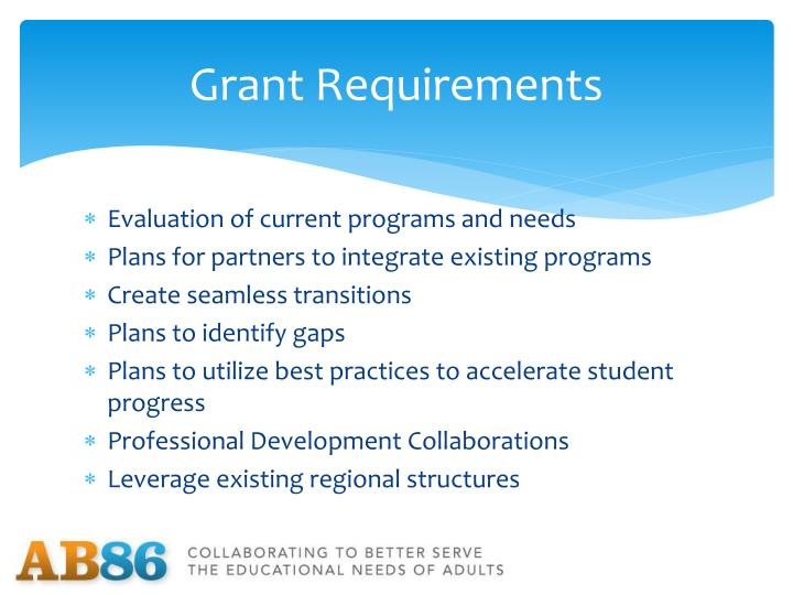 Grant Requirements