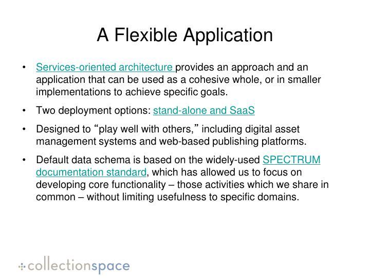 A Flexible Application