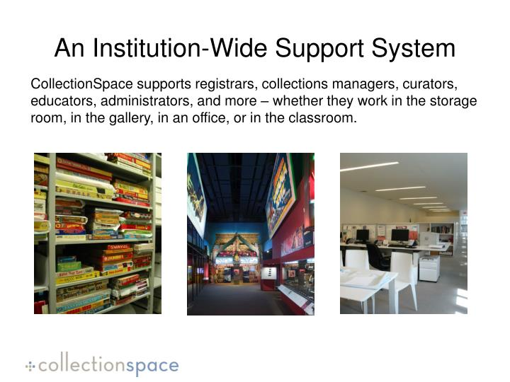 An Institution-Wide Support System