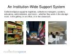an institution wide support system