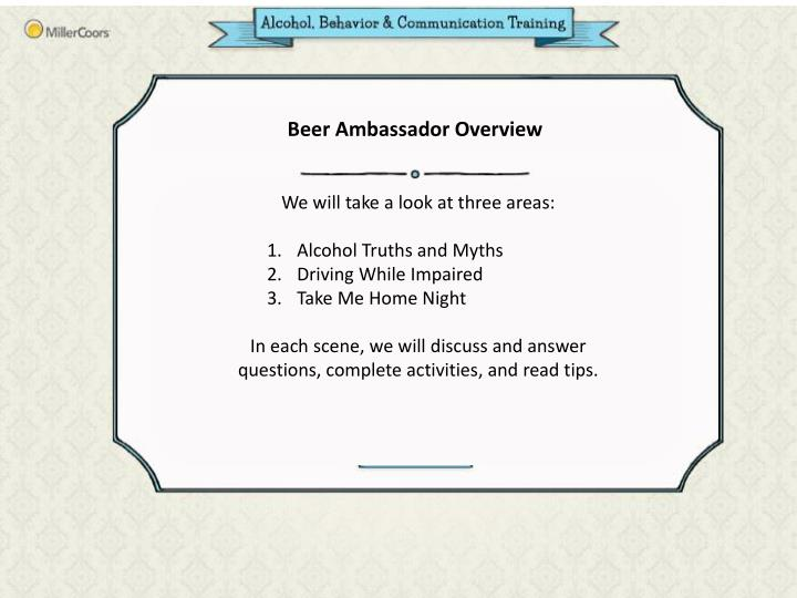 Beer Ambassador Overview