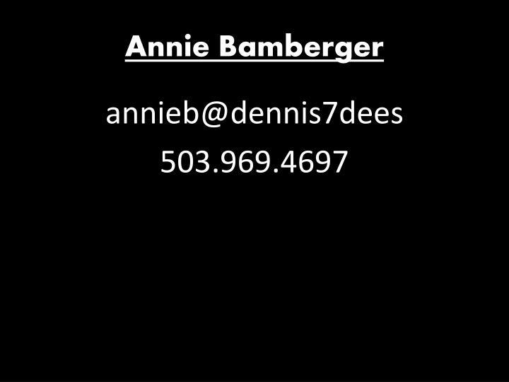 Annie Bamberger