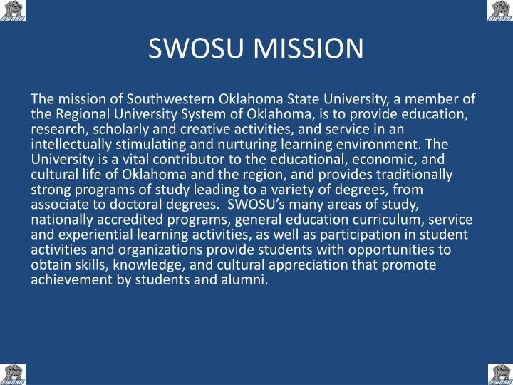 SWOSU MISSION