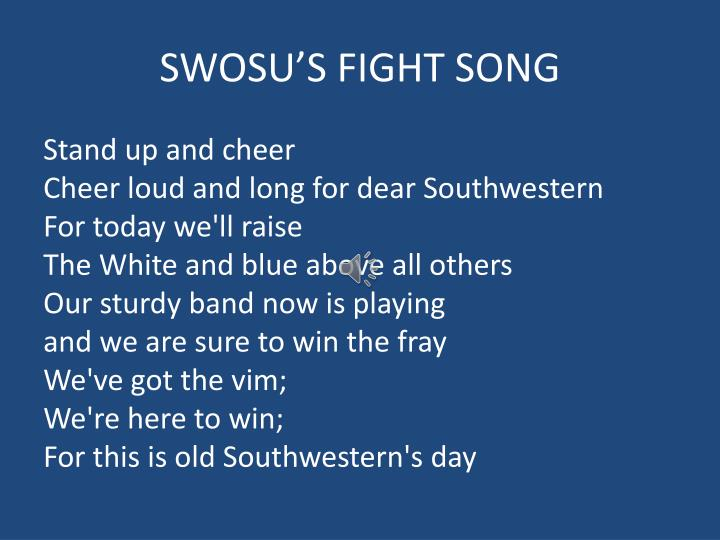 Swosu s fight song
