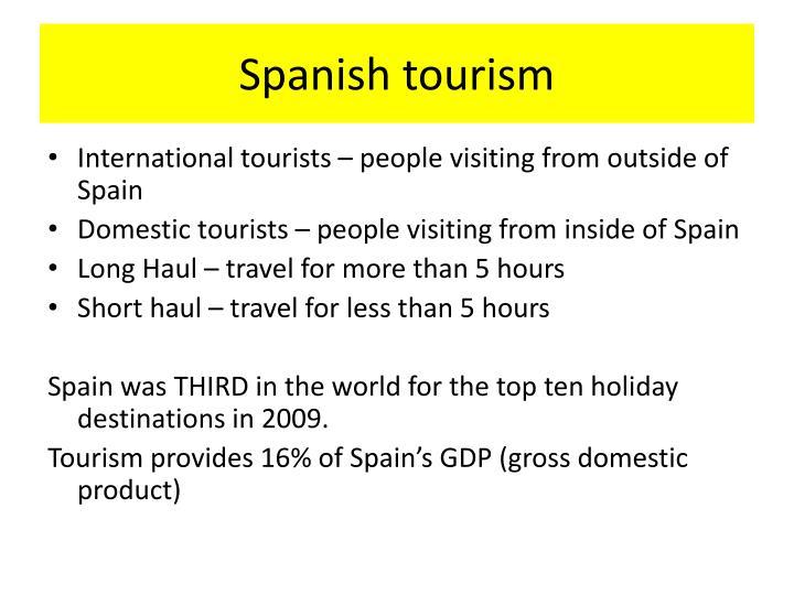Spanish tourism