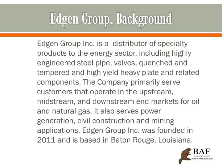 Edgen group background