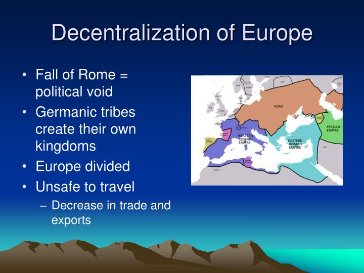 Decentralization of Europe
