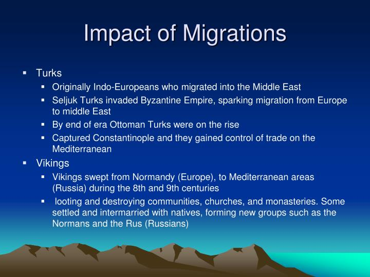 Impact of Migrations