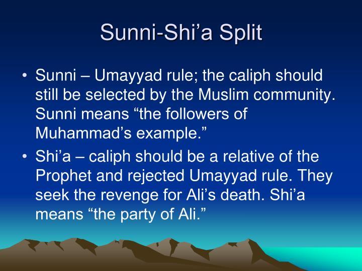 Sunni-Shi'a Split