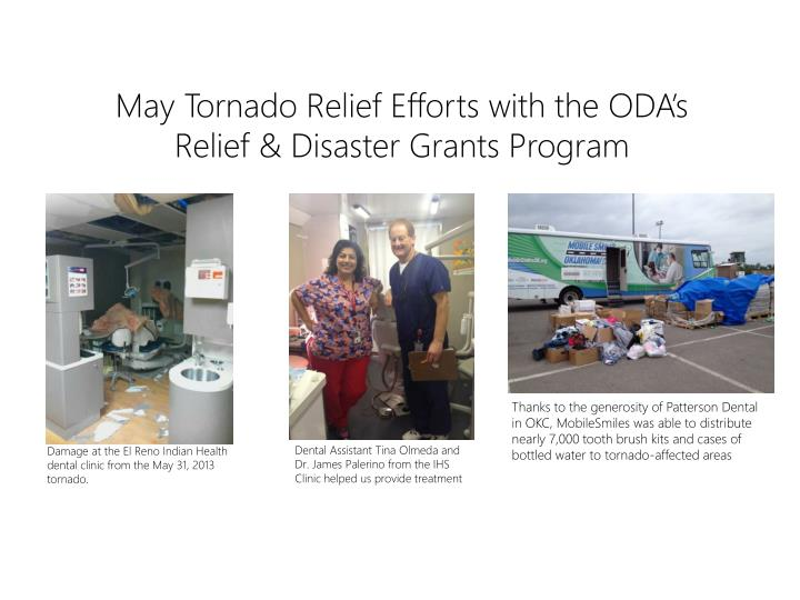 May Tornado Relief Efforts with the ODA's Relief & Disaster Grants Program