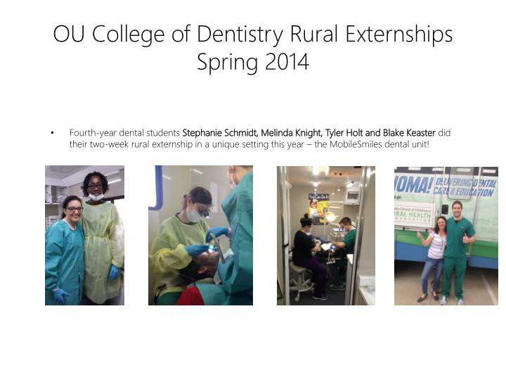 OU College of Dentistry Rural Externships