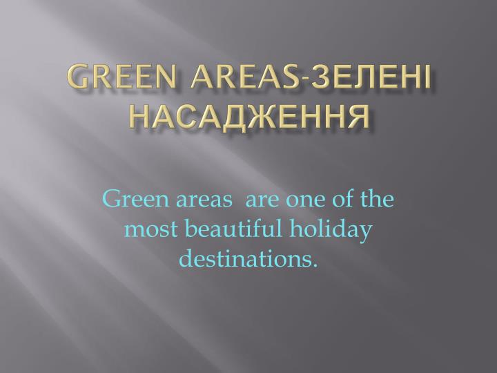 Green areas-