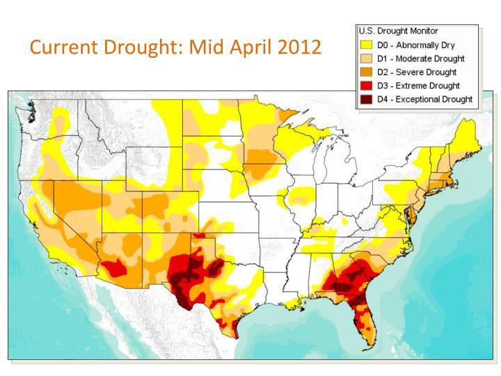 Current Drought: Mid April 2012