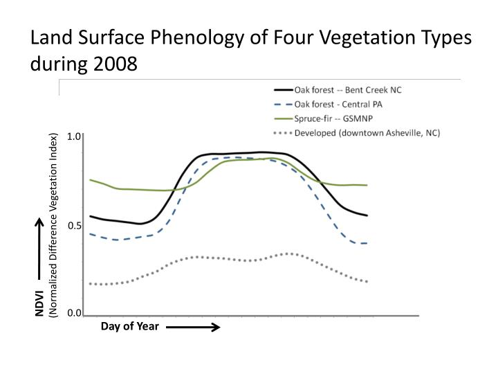 Land Surface Phenology of Four Vegetation Types