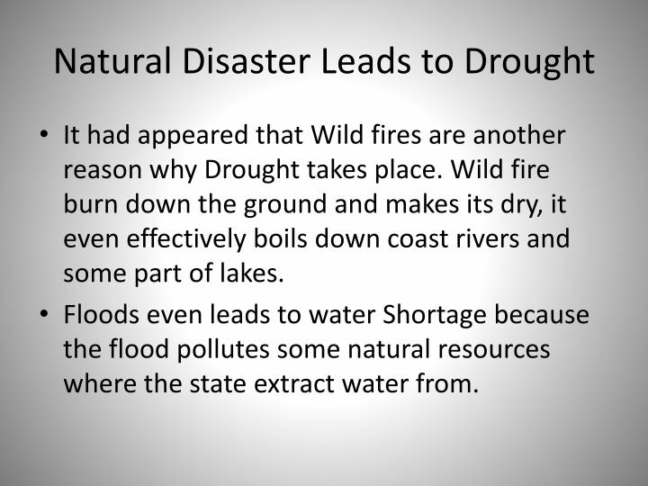 Natural Disaster Leads to Drought