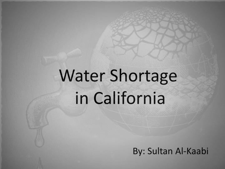 water shortage in california