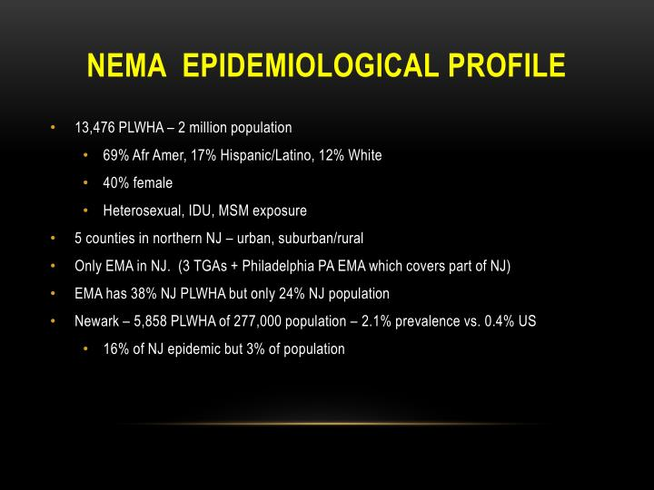 nEMA  epidemiological profile