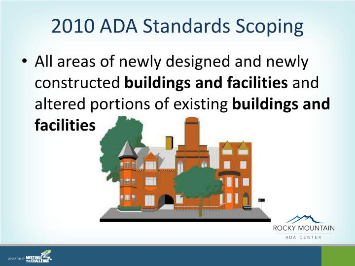 2010 ADA Standards Scoping