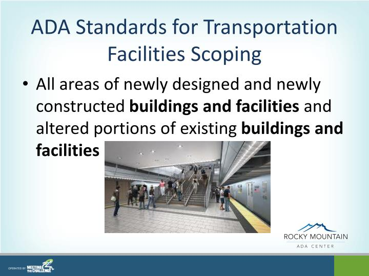 ADA Standards for Transportation Facilities Scoping