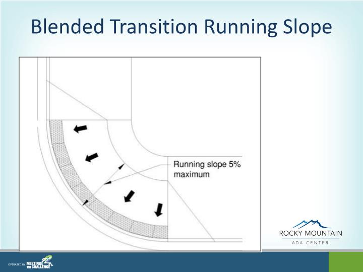 Blended Transition Running Slope