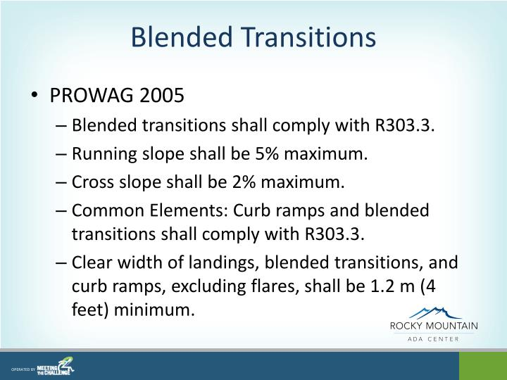 Blended Transitions