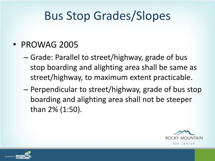 Bus Stop Grades/Slopes