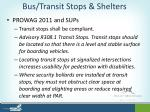 bus transit stops shelters