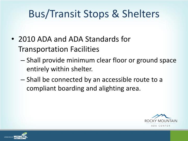 Bus/Transit Stops & Shelters