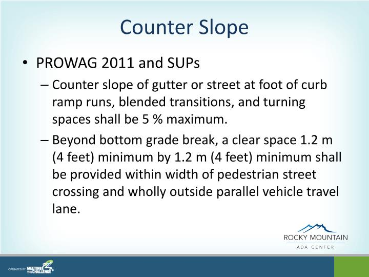 Counter Slope