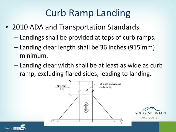 Curb Ramp Landing