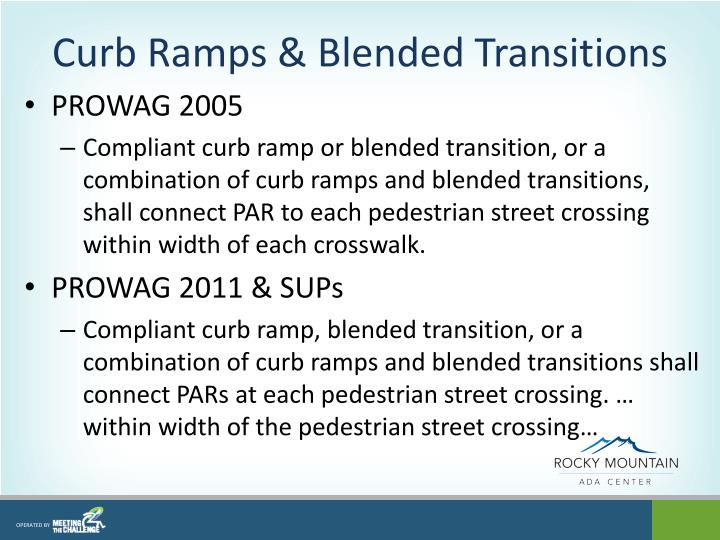 Curb Ramps & Blended Transitions