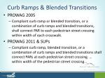 curb ramps blended transitions