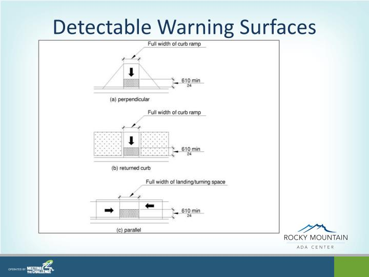 Detectable Warning Surfaces