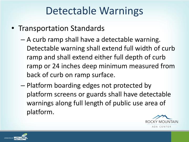 Detectable Warnings