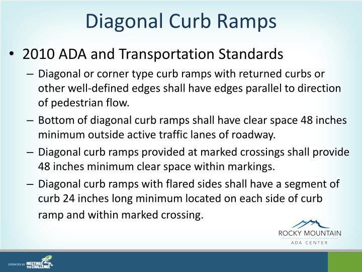 Diagonal Curb Ramps