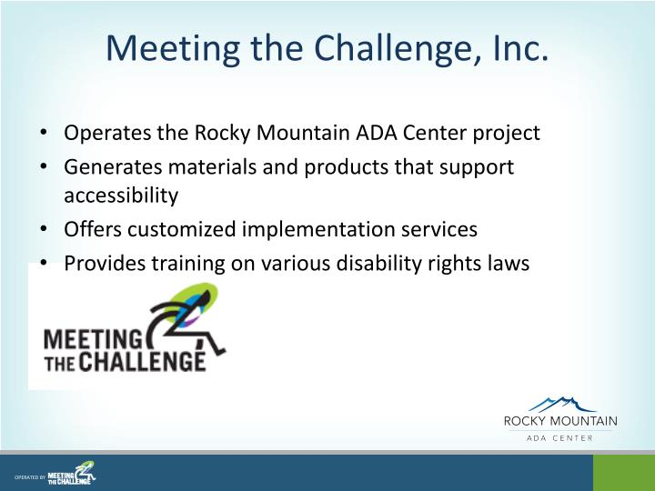 Meeting the Challenge, Inc.