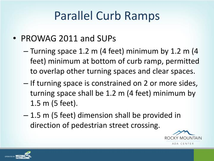 Parallel Curb Ramps