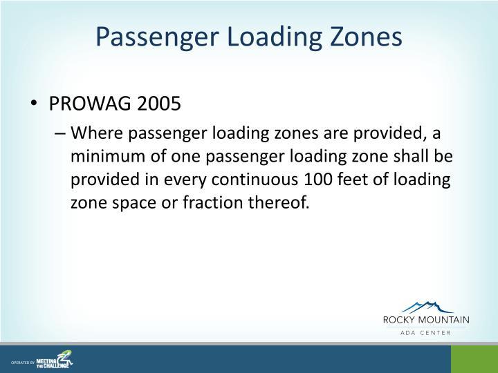 Passenger Loading Zones