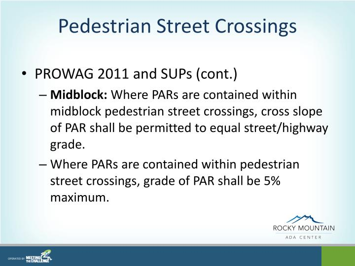 Pedestrian Street Crossings