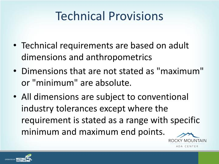 Technical Provisions