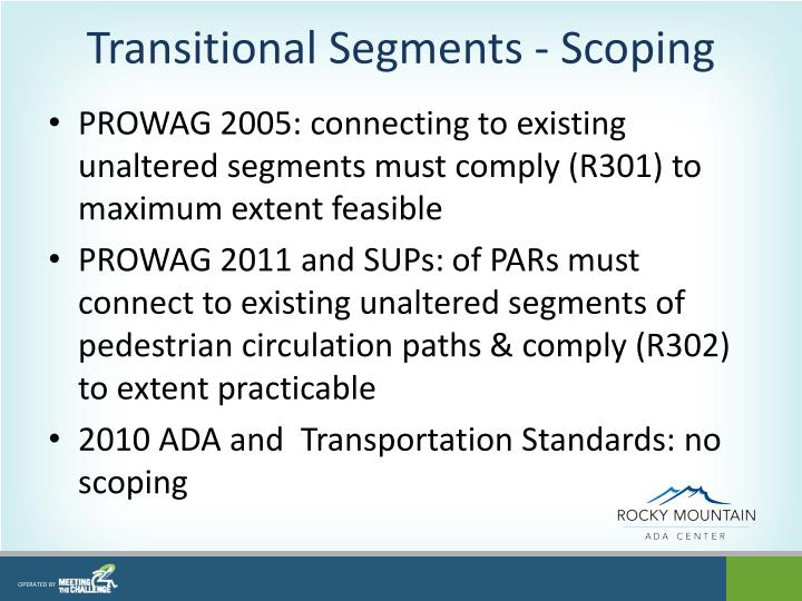 Transitional Segments - Scoping