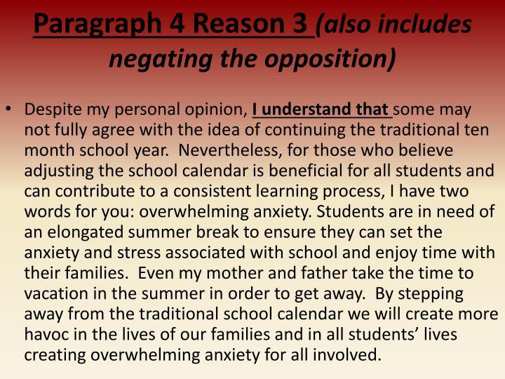 Paragraph 4 Reason 3
