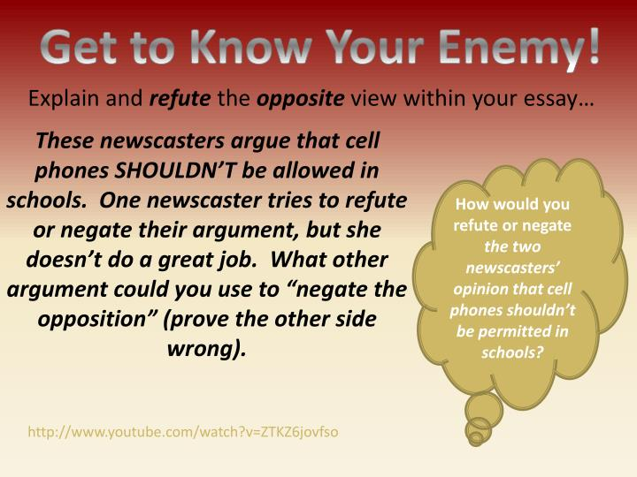Get to Know Your Enemy!