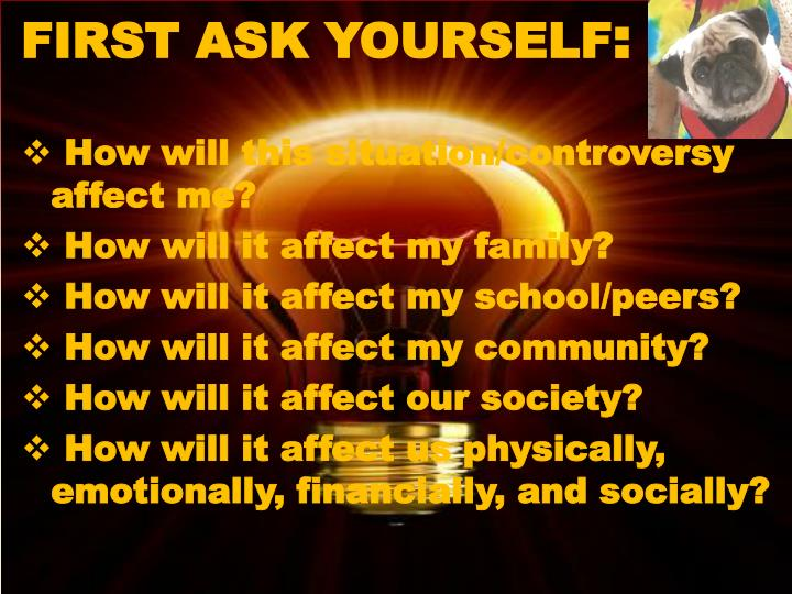 FIRST ASK YOURSELF