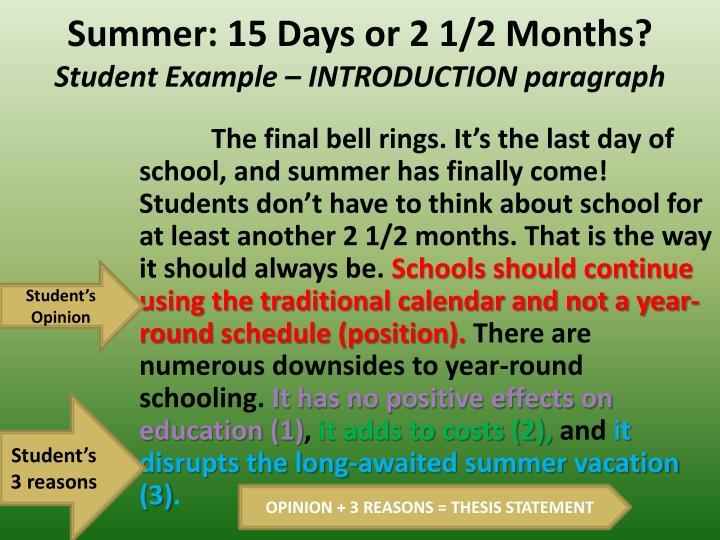 Summer: 15 Days or 2 1/2 Months?
